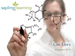 Gas law - Sapling Learning