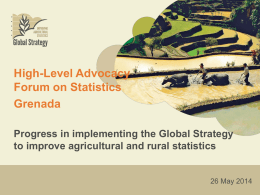 Global Strategy to Improve Agricultural and Rural Statistics