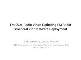 Exploiting FM Radio Broadcasts for Malware Deployment