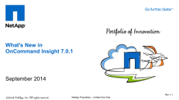 What`s New in OnCommand Insight 7.0.1