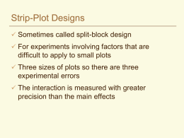 Strip-Plot Designs - Crop and Soil Science