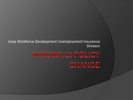 MyIowa UI Policy Change - Iowa Workforce Development