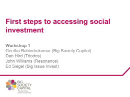 Geetha Rabindrakumar (Big Society Capital) Presentation