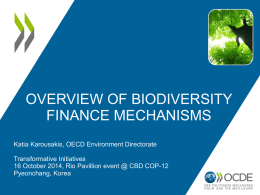 Overview of biodiversity finance mechanisms
