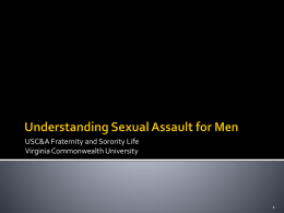 Understanding Sexual Assault for Men