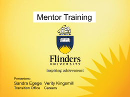 What is Mentoring? - Flinders University