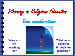 Planning in Religious Education (PPT)
