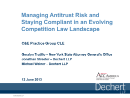 Managing Antitrust Risk and Staying Compliant in an Evolving