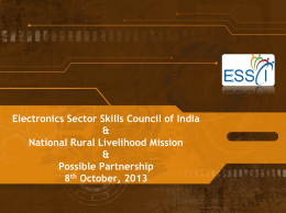Electronics Sector Skills Council of India - DDU-GKY