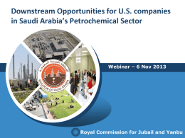 Royal Commission for Jubail and Yanbu Presentation