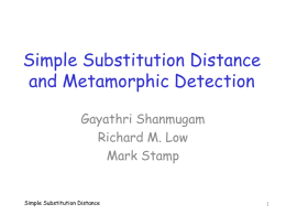 simple substitution distance