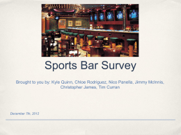 Sports Bar Survey - eRaven - Franklin Pierce University