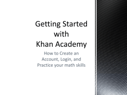 Using Khan Academy