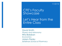 presentation - The UNC Center for Faculty Excellence