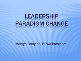 leadership paradigm change - bpw