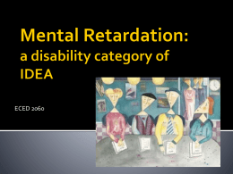 Mental Retardation Traumatic Brain Injury
