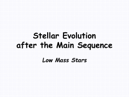 Stellar Evolution after the Main Sequence