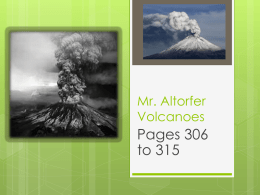 Mr. Altorfer Volcanoes - Fair Lawn Public Schools
