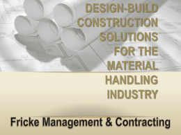 FMC Introduction Presentation - Fricke Management & Contracting