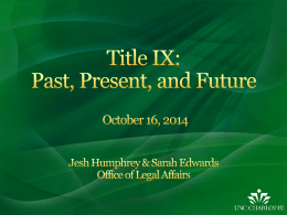 Title IX: Past, Present, and Future