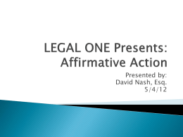 Affirmative Action.5.4.12 - Foundation for Educational