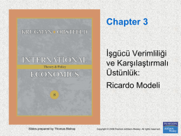 Chapter 3. Labor Productivity and Comparative Advantage