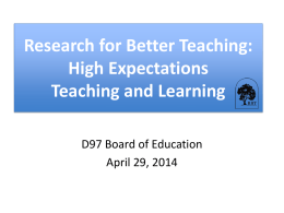 Research for Better Teaching