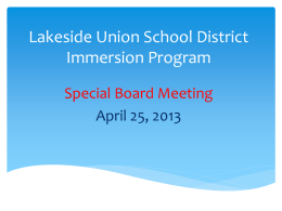 PowerPoint - Lakeside Union School District