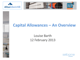 Capital Allowances - The Association of Women in Property
