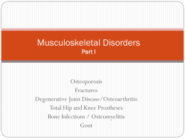 Musculoskeletal Disorders Part I Final