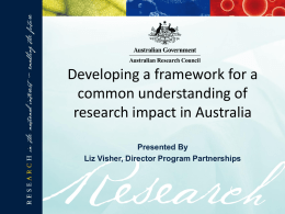 PowerPoint - Australian Research Council