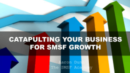 Aaron Dunn - SMSF Strategy Day