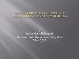 support group for caregivers of older adults affected by dementia