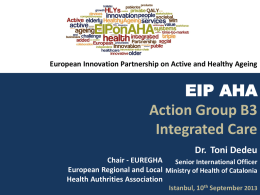 EIP AHA B3 - Integrated Care - European forum for primary care