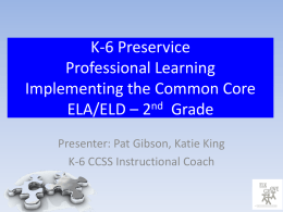 2nd Grade – Preservice PowerPoint