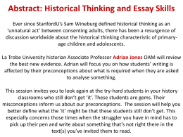 Historical Thinking and Essay Skills_2 - Ass Prof A Jones.docx