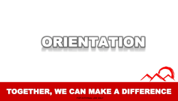 ORIENTATION - FinancialRevolution
