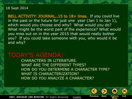 Elements of Literature: Character