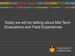 Mid Term Evaluations - University of Manitoba