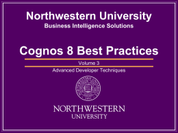 Enter your project title here - Northwestern University Information