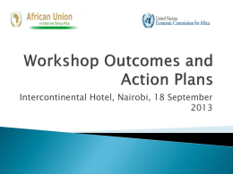 Workshop Outcomes and Action Plans