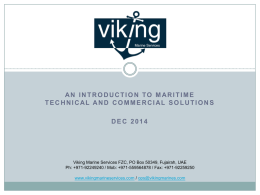 Viking Marine Services Presentation