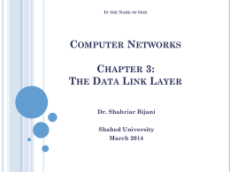 The Data Link Layer- part 1