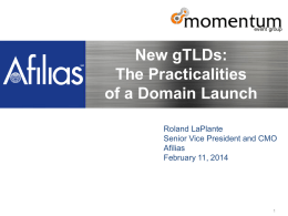 Webinar_New gTLD Practicalities_11FEB2014_FINAL