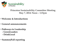 PSC Presentation PowerPoint - Sustainability at Princeton