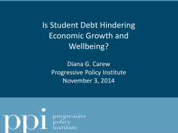 Impact of Student Debt on the Greater Economy-Pt2