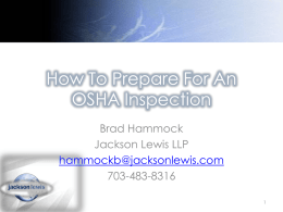 How To Prepare For An OSHA Inspection