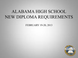 Presentation - Alabama Department of Education