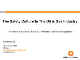 The Safety Culture In The Oil & Gas Industry