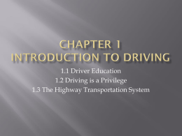 Chapter 1 Introduction to Driving